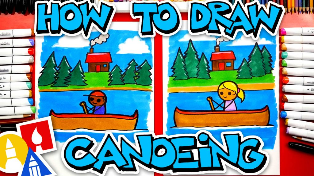 How To Draw A Person Canoeing