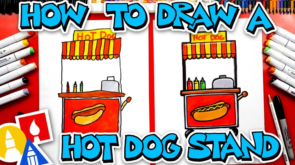How To Draw A Hot Dog Stand