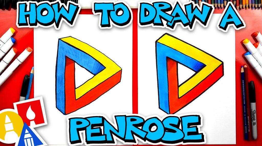 How To Draw A Penrose Triangle – Optical Illusion