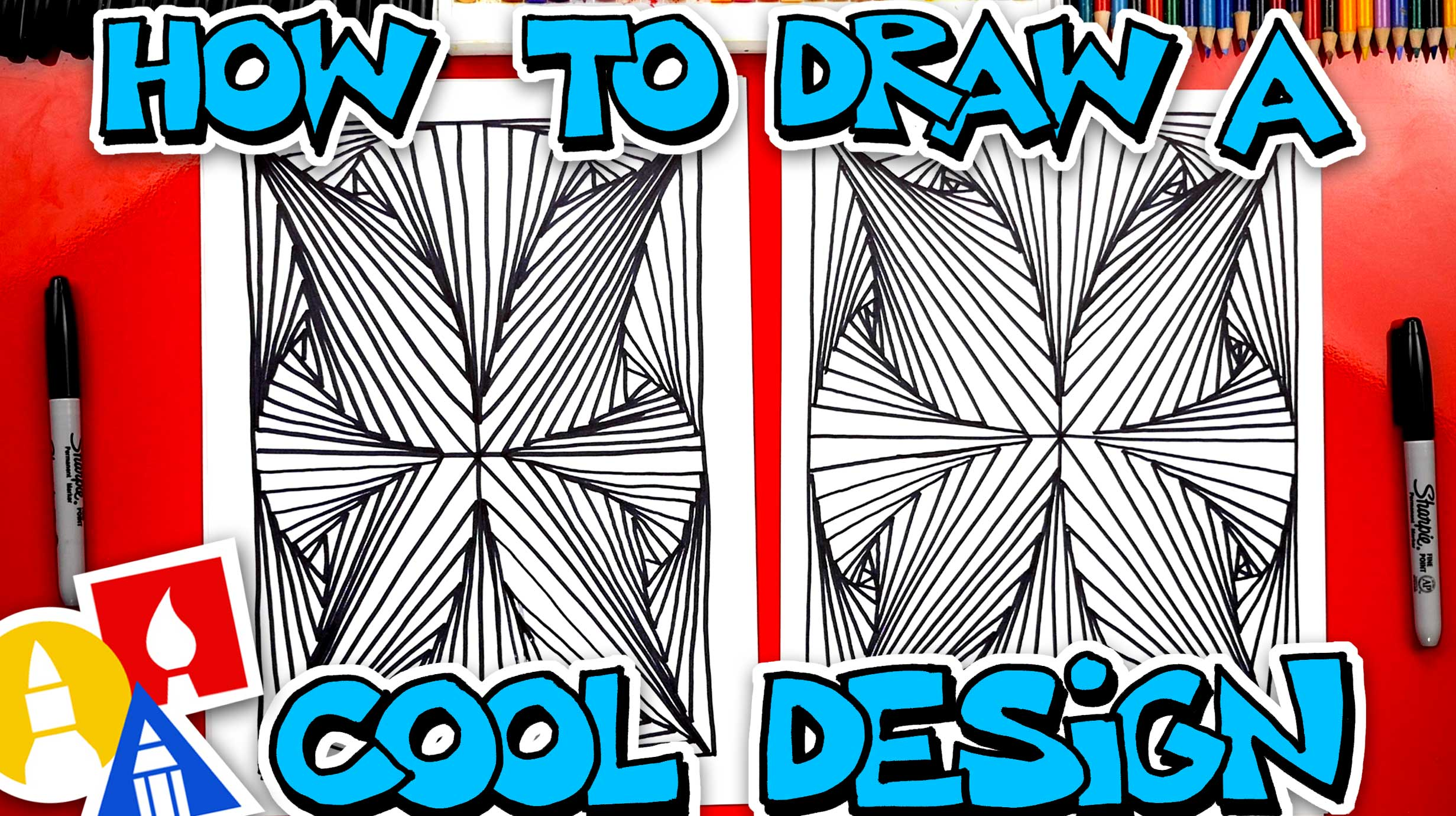 How To Draw A 3D Abstract Design - Art For Kids Hub
