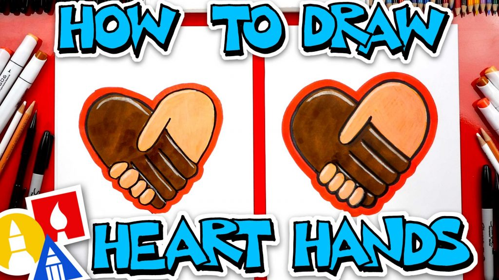 How To Draw Heart Hands – Be Kind To Everyone