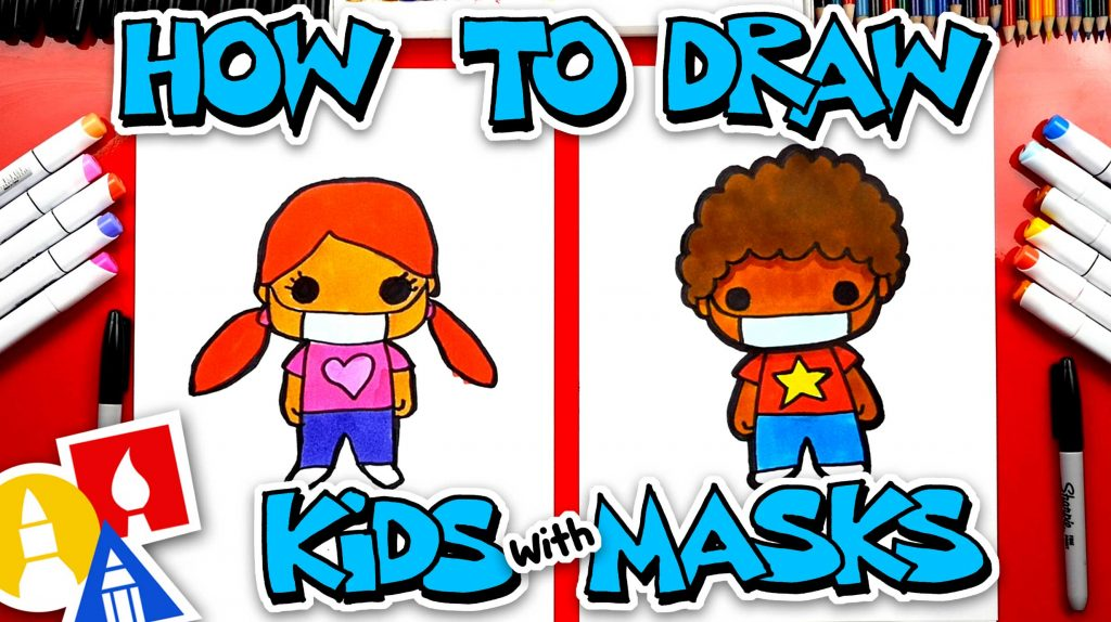 How To Draw Kids Wearing Face Masks