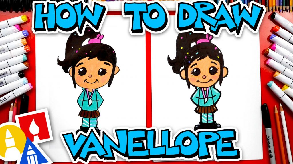 How To Draw Vanellope von Schweetz From Wreck-It Ralph