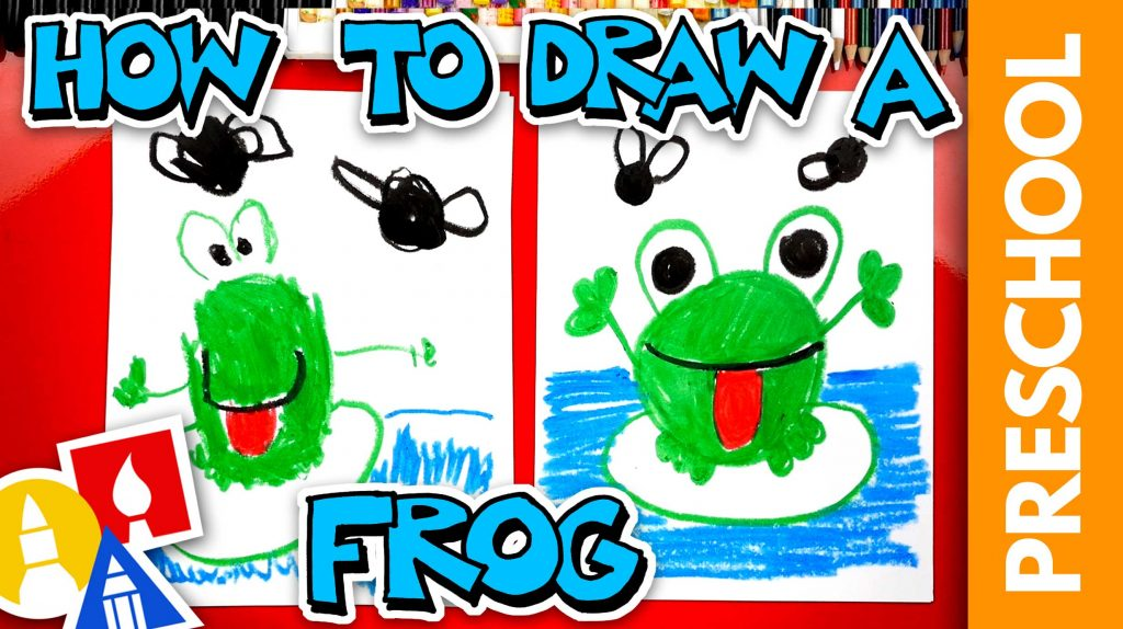 Drawing A Frog & Flies With Shapes – Preschool