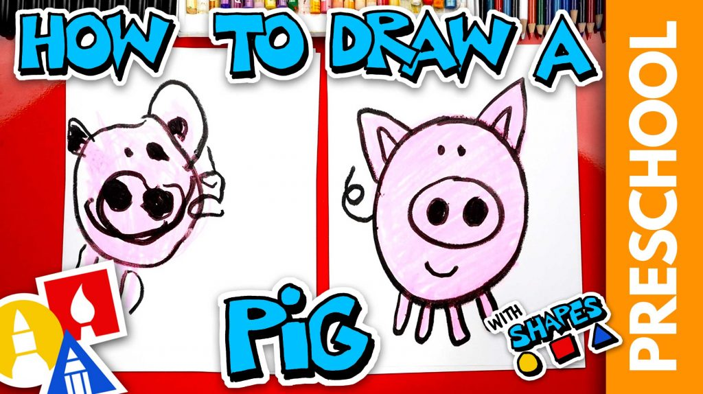 Drawing A Pig Using Shapes – Preschool