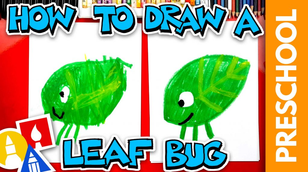 Drawing A Walking Leaf Using Shapes – Preschool