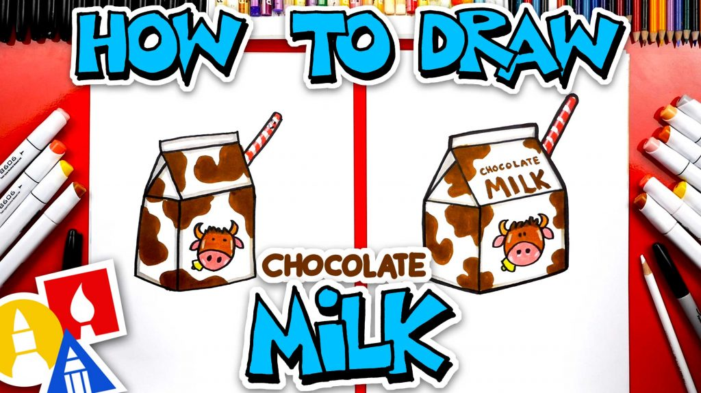 How To Draw Funny Chocolate Milk
