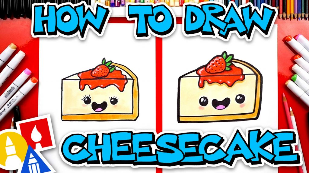 How To Draw Funny Cheesecake