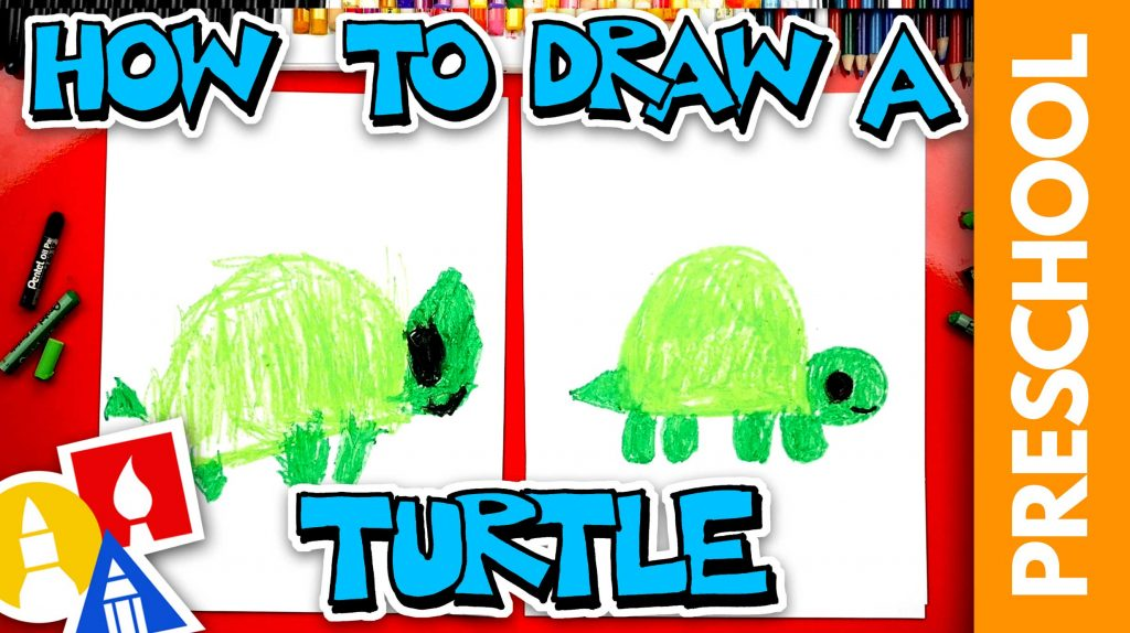 How To Draw A Turtle – Preschool