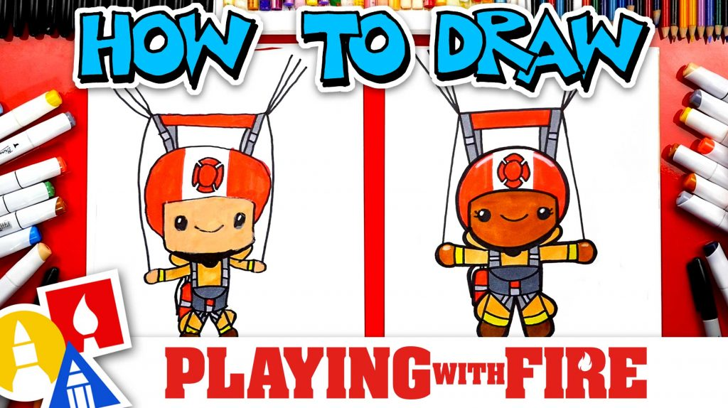 How To Draw A Smokejumper From The Movie Playing With Fire