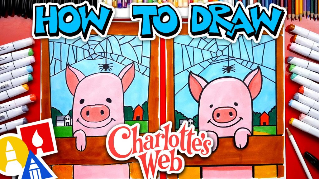How To Draw Charlotte And Wilber From The Movie Charlotte's Web