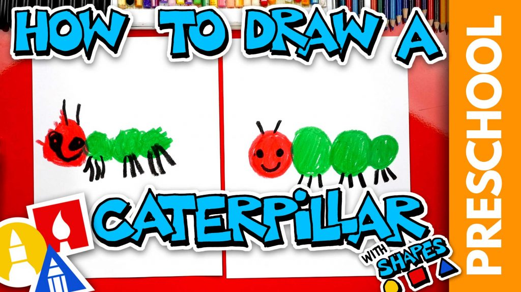 Drawing A Caterpillar Using Shapes – Preschool