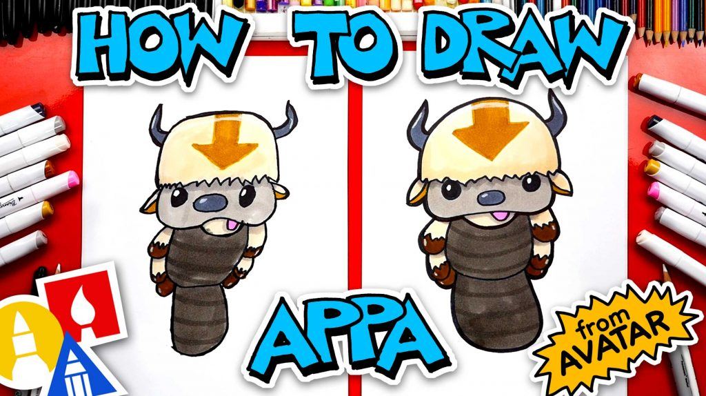 How To Draw Appa From Avatar: The Last Airbender