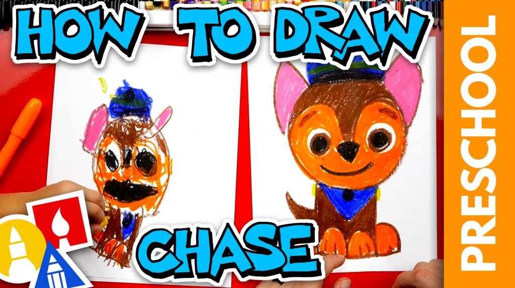How To Draw Chase From Paw Patrol – Preschool