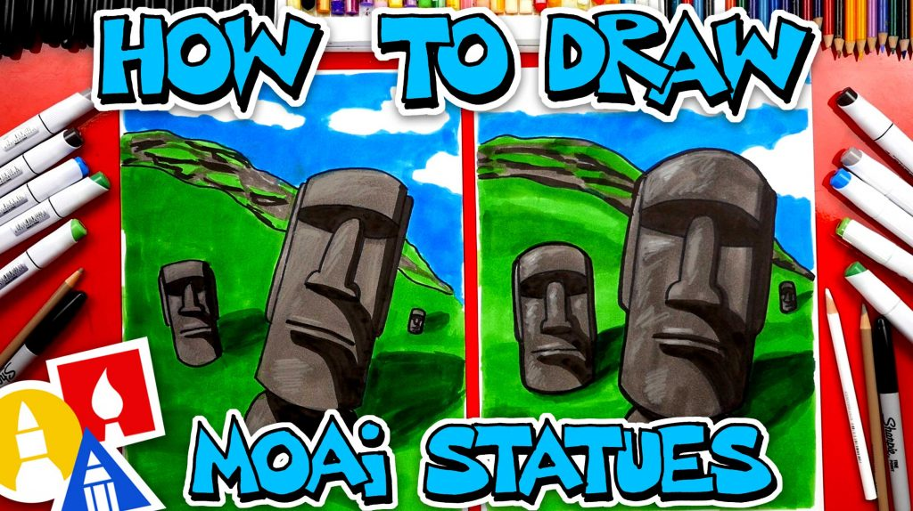 How To Draw Moai Statues Of Easter Island