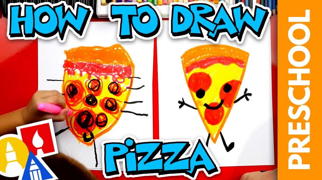 How To Draw Pizza – Preschool