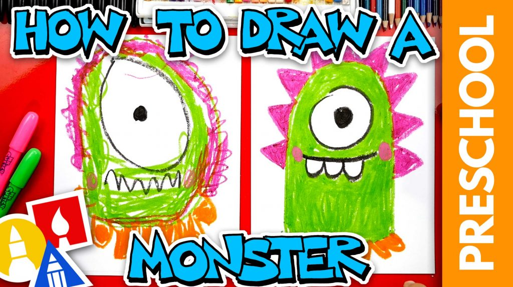 How To Draw A Funny Monster – Preschool