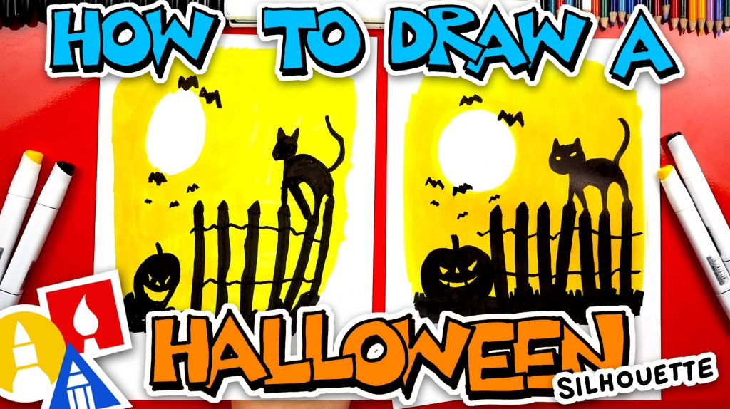 How To Draw A Spooky Halloween Night – Silhouette