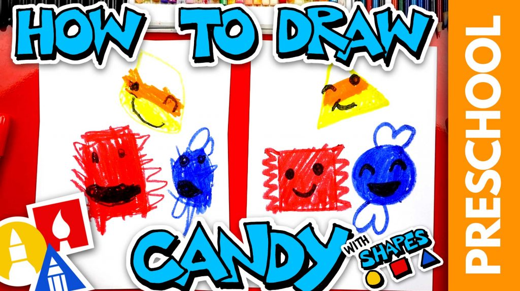 How To Draw Candy Using Shapes – Preschool