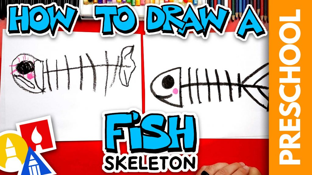 How To Draw A Spooky Fish Skeleton For Halloween – Preschool