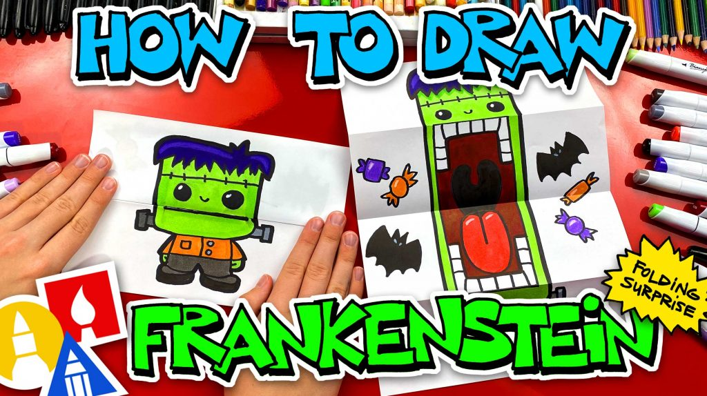 How To Draw Frankenstein Folding Surprise Puppet