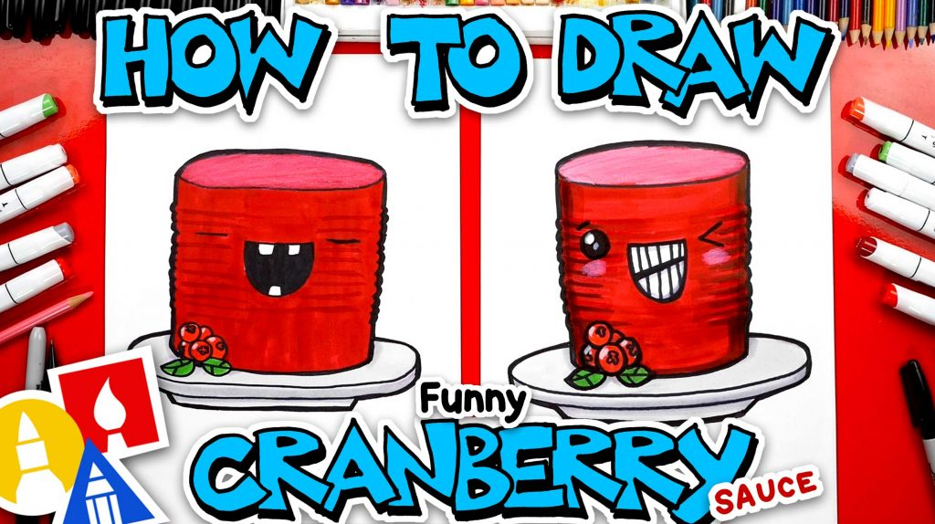 How To Draw A Funny Cranberry Sauce