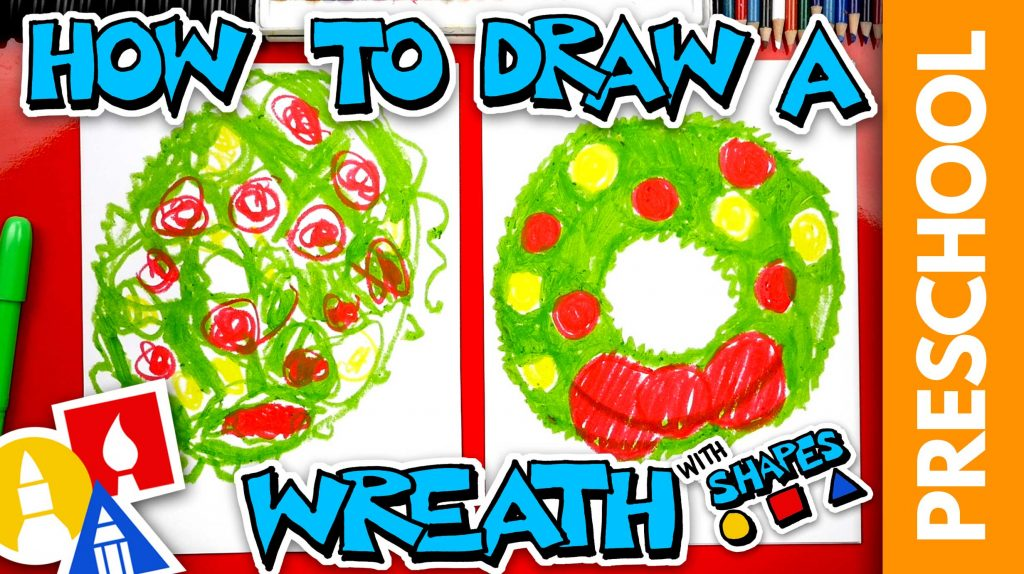 How To Draw A Holiday Wreath – Preschool