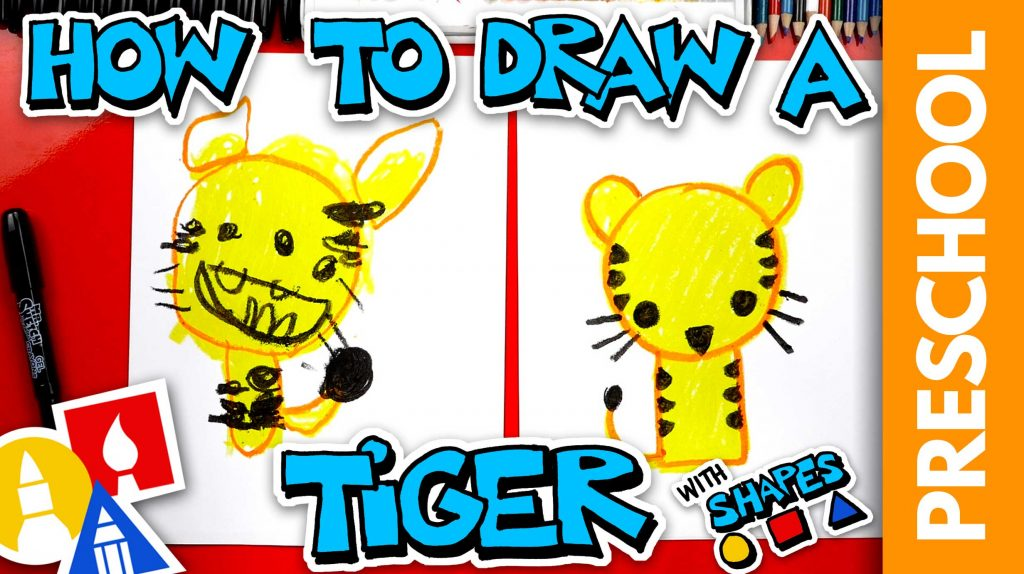 How To Draw A Tiger – Preschool
