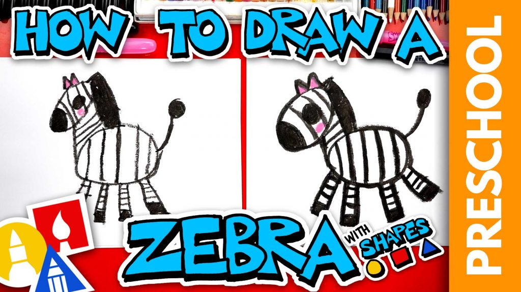 How To Draw A Cartoon Zebra – Preschool