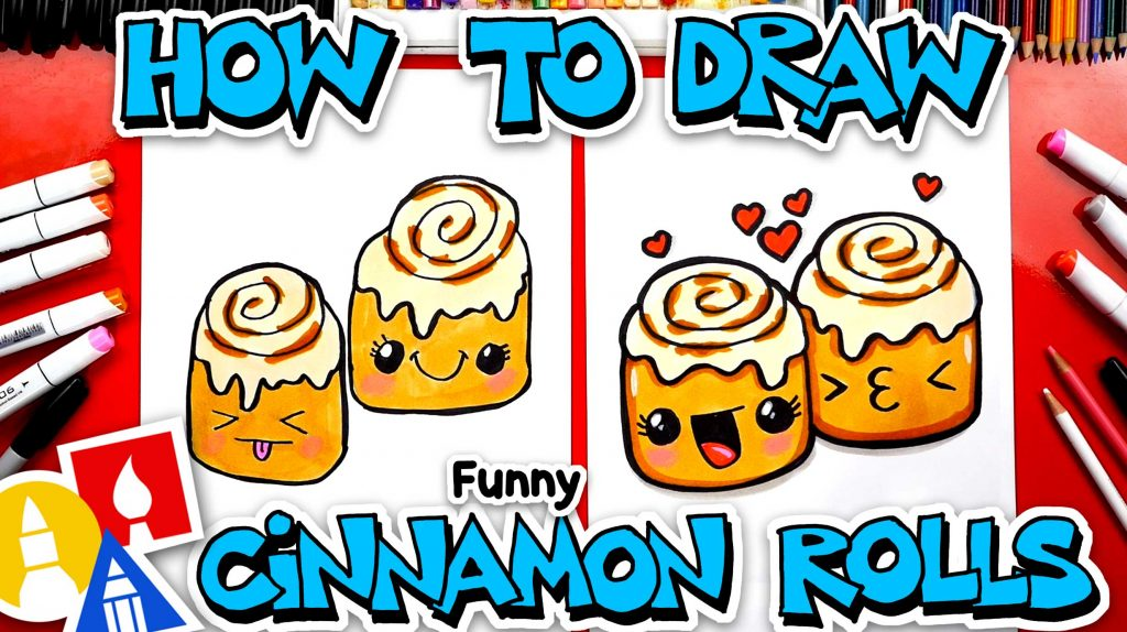 How To Draw Funny Cartoon Cinnamon Rolls