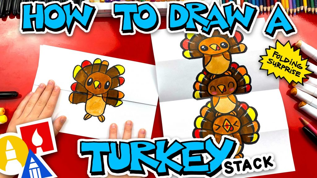 How To Draw A Turkey Stack For Thanksgiving – Folding Surprise