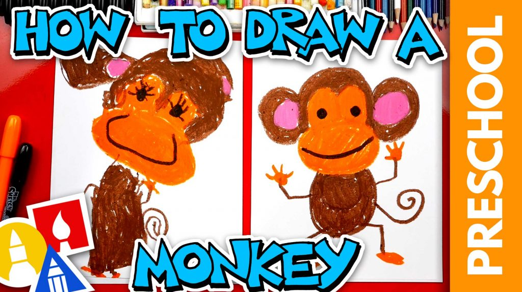 How To Draw A Monkey – Preschool