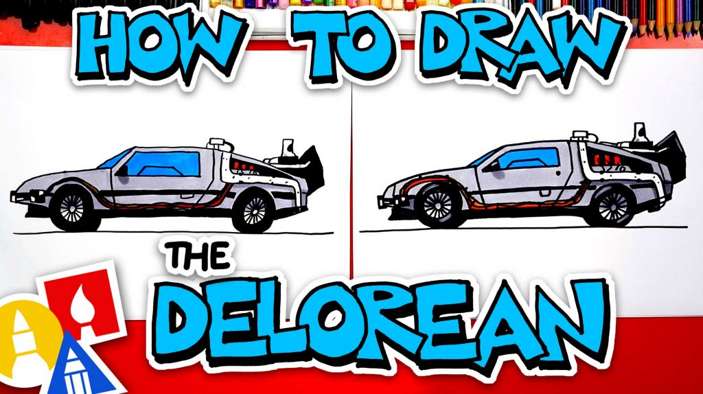 How To Draw The Delorean From Back To The Future