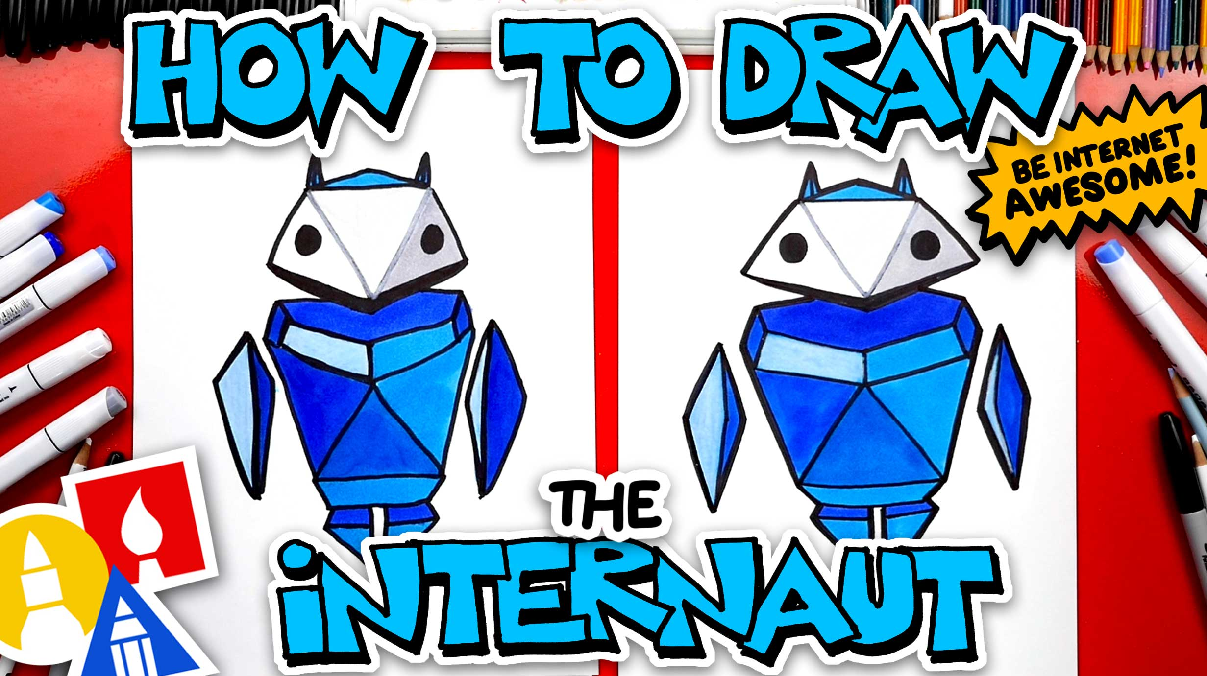 How To Draw The Internaut From Google's Interland Game ...