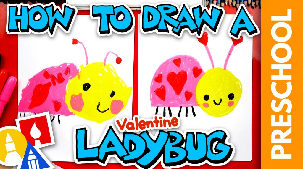 How To Draw A Valentine's Ladybug – Preschool