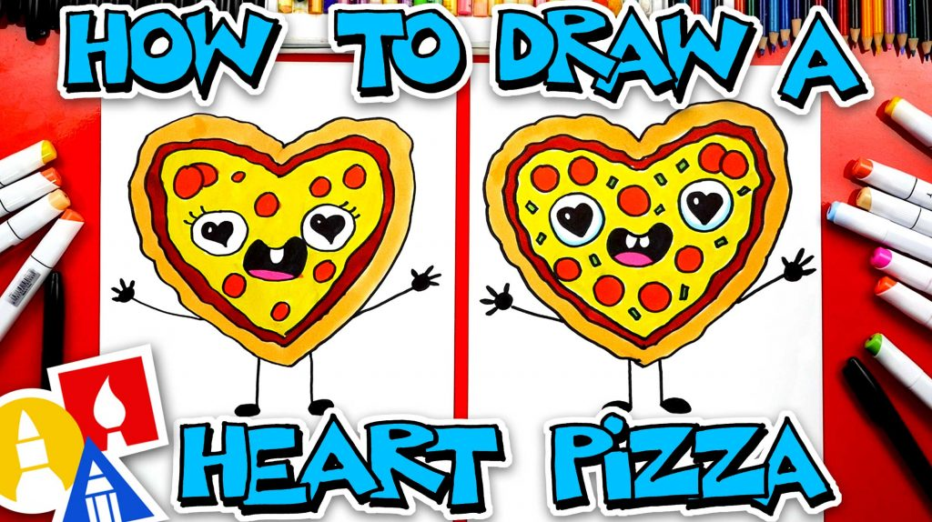 How To Draw A Valentine's Heart-Shaped Pizza