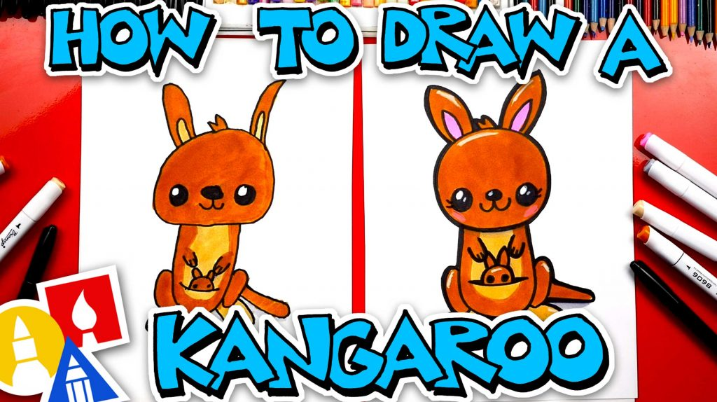 How To Draw A Cartoon Kangaroo