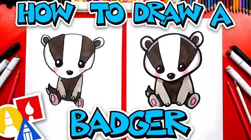 How To Draw Cartoon Badger