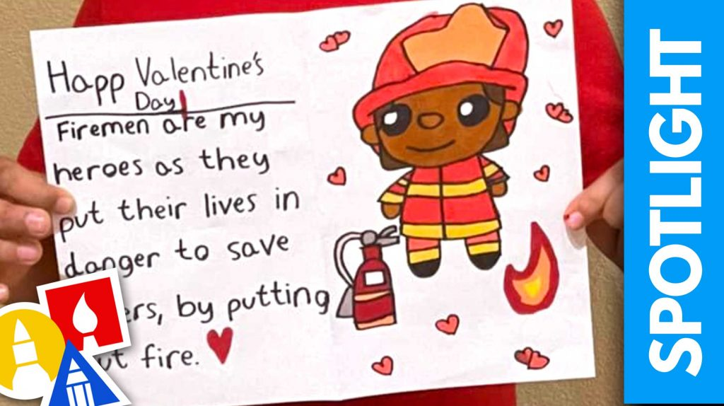 SPOTLIGHT 100 – Make A Valentine's Card For Your Hero!