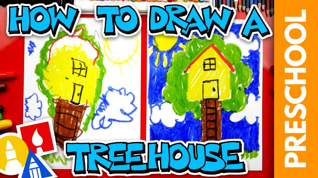 How To Draw A Treehouse – Preschool