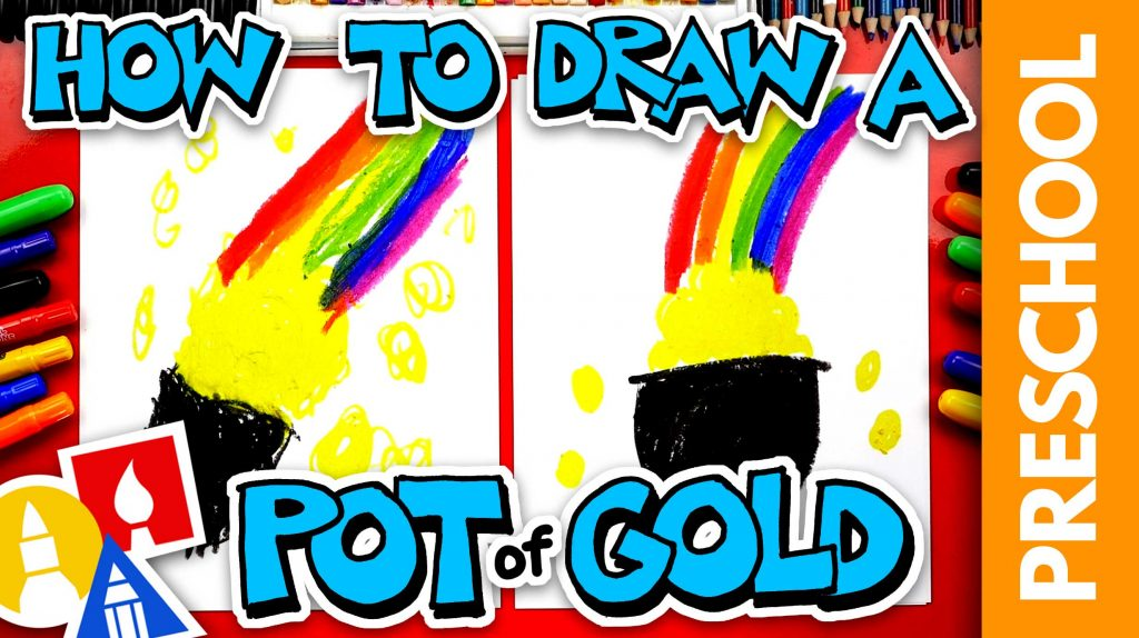 How To Draw Pot Of Gold For St. Patrick's Day – Preschool