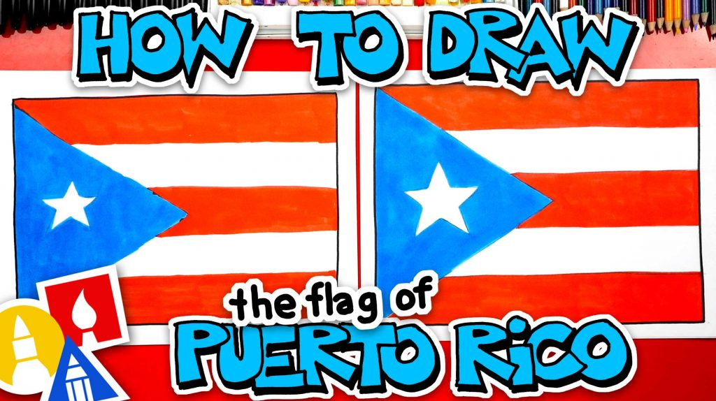 How To Draw The Puerto Rico Flag
