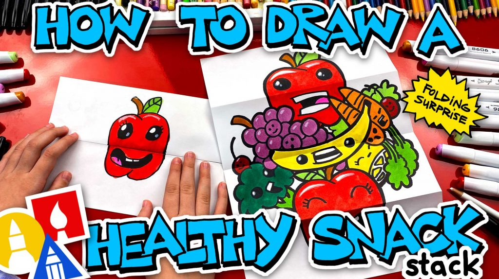 How To Draw A Healthy Snack Stack – Folding Surprise