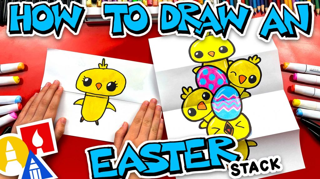 How To Draw An Easter Chick Stack – Folding Surprise