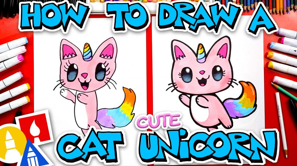 How To Draw A Cute Cat Unicorn