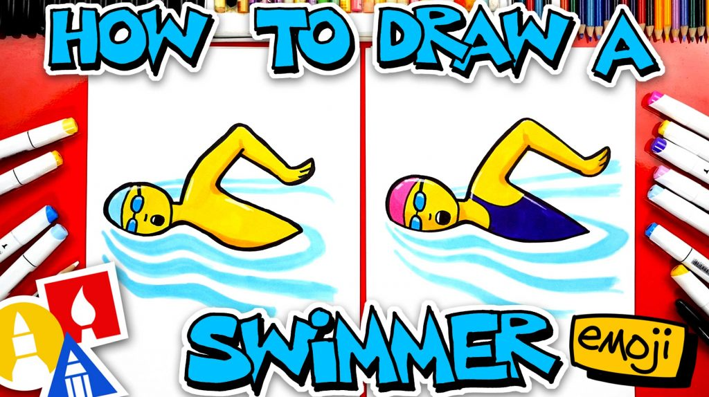 How To Draw A Swimmer Emoji