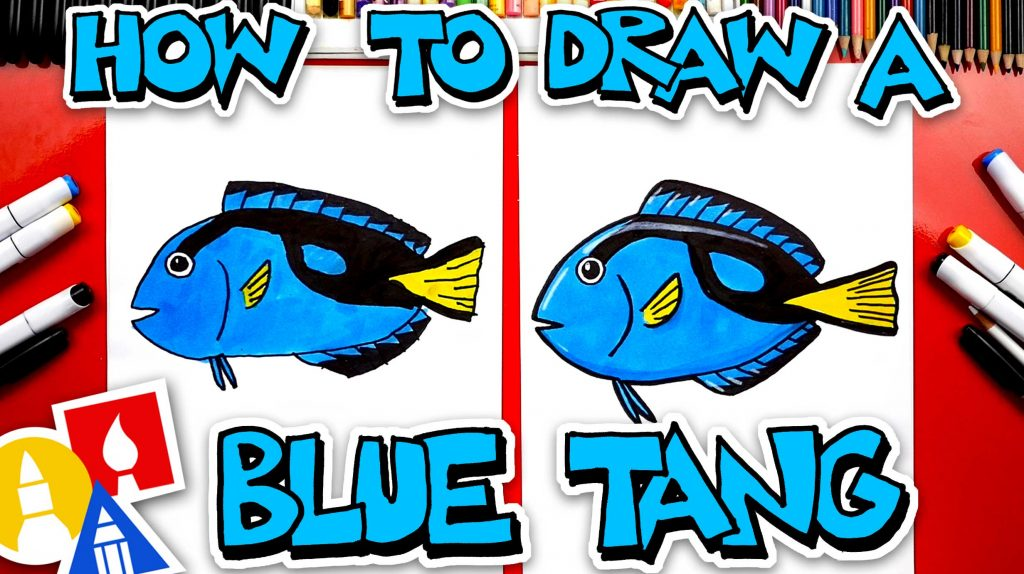 How To Draw A Blue Tang