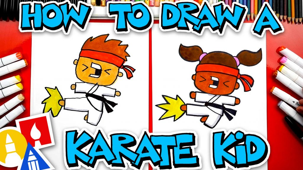 How To Draw A Karate Kid