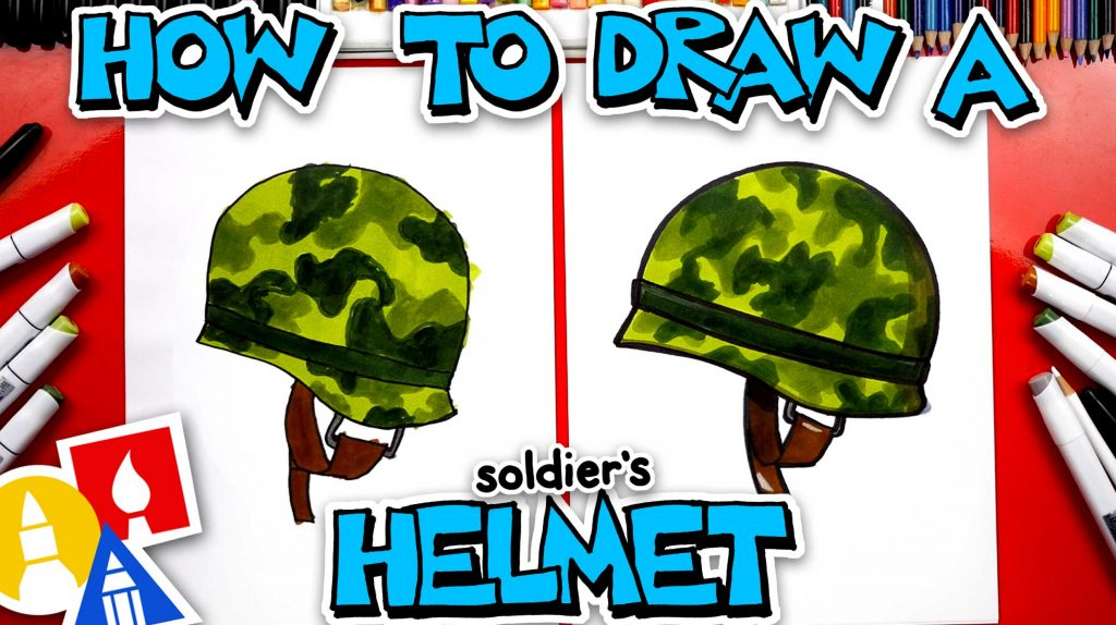 How To Draw A Soldier's Helmet
