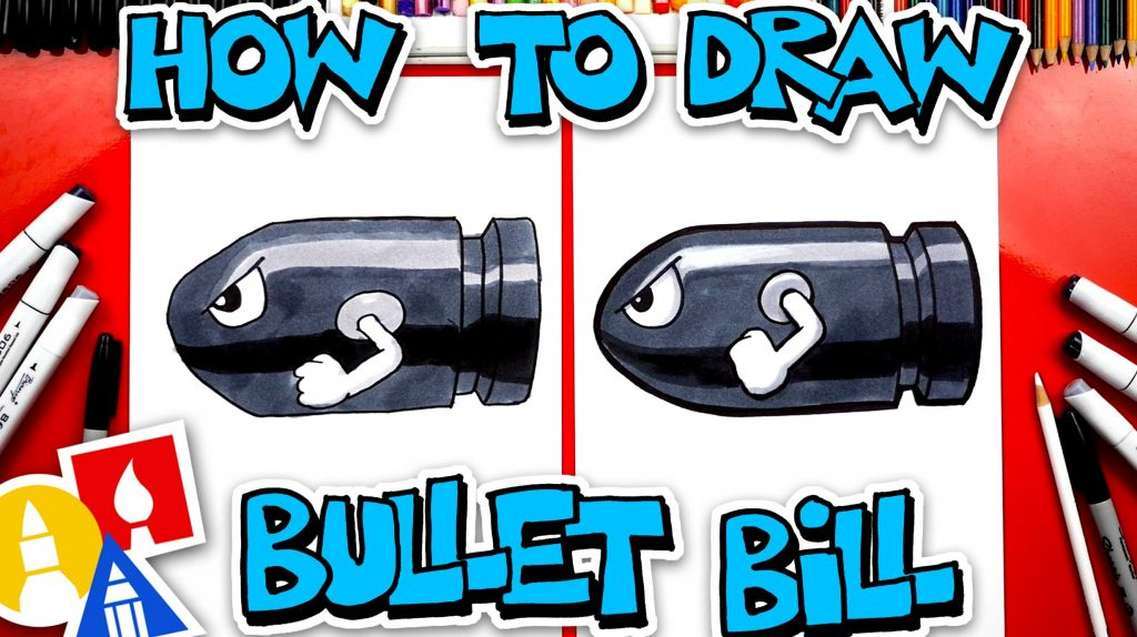 How To Draw Bullet Bill From Mario